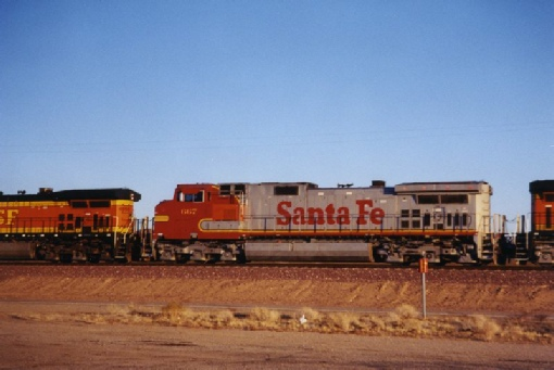 2002-02-23 1 A Santa Fe engine passes us near Goffs, California