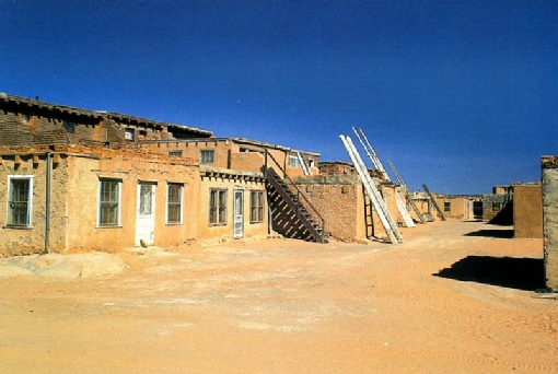 2002-02-12 6 Street scene 'sky city' - Acoma, New Mexico