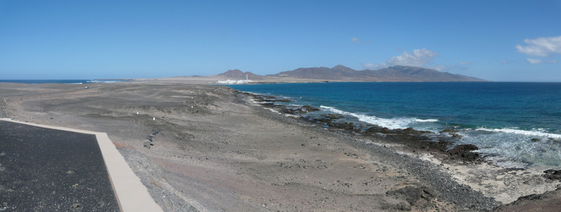 2014-02-12_1421 Panorama  view back from Punta de Jandia lighthouse, Fuerteventura