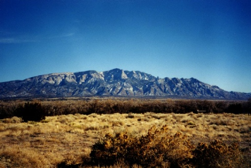 2002-02-10 5 Sandia mountains from Coronado Monument, Bernallilo, New Mexico