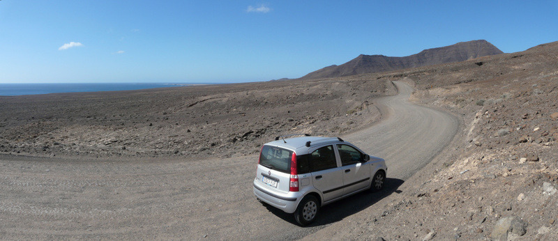 2014-02-12_1351 Panorama of the road across Parque Natural de Jandia, Fuerteventura