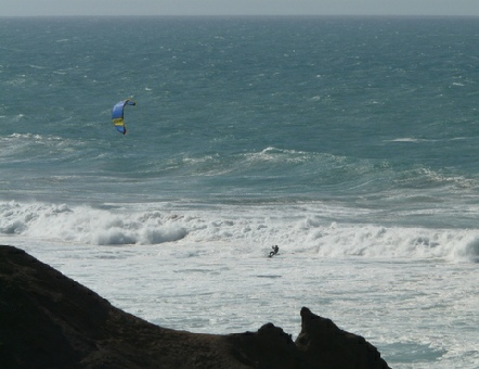 2014-02-10_1510__12517A Kite surfer at La Pared, Fuerteventura