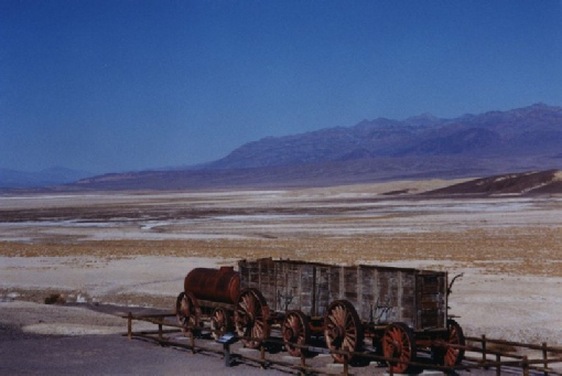 2002-02-25 4 Part of an old mule train used in Borax Works, Death Valley, California